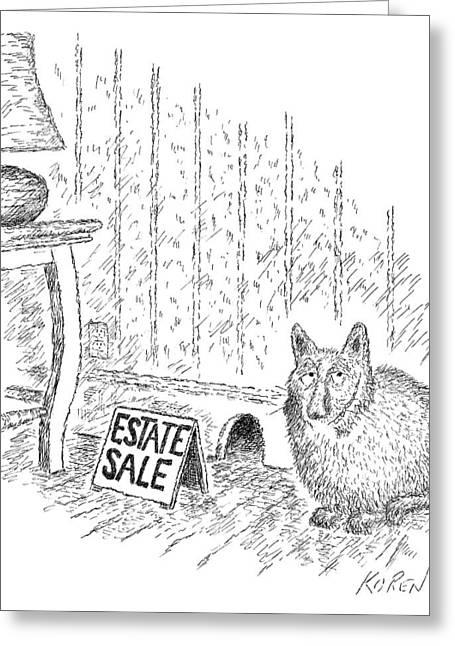 Estate Sale Greeting Card