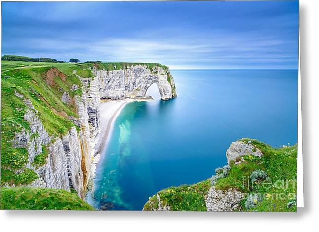 Etretat, La Manneporte Natural Rock Greeting Card