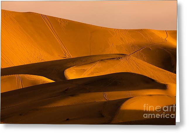 Eureka Dunes Area, Death Valley Greeting Card