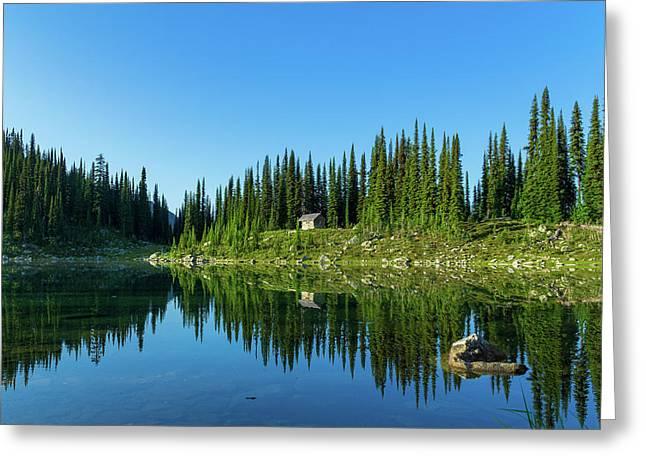 Eva Lake Cabin Greeting Card