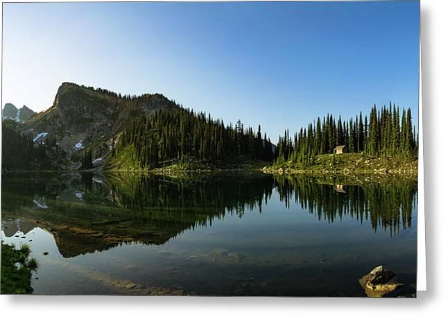 Eva Lake Panorama Greeting Card