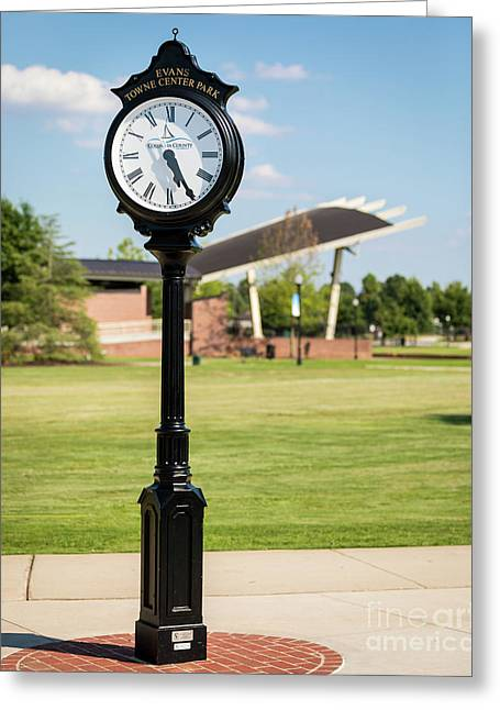 Evans Towne Center Park Clock - Columbia County Ga Greeting Card