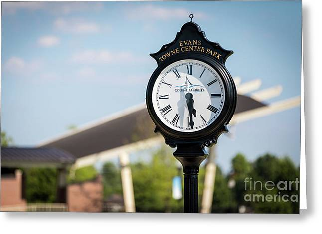 Evans Towne Center Park Clock - Evans Ga Greeting Card