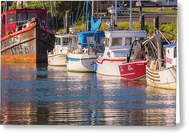 Evening At The Harbor Greeting Card