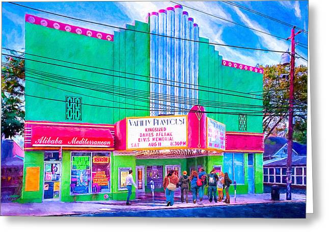 Greeting Card featuring the photograph Evening At The Variety Playhouse - Atlanta by Mark E Tisdale