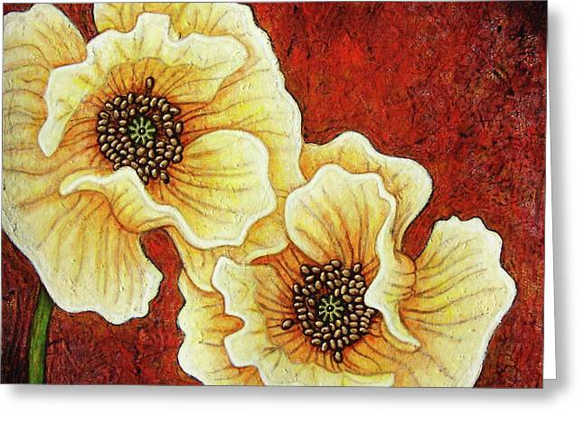 Greeting Card featuring the painting Evening Embers by Amy E Fraser