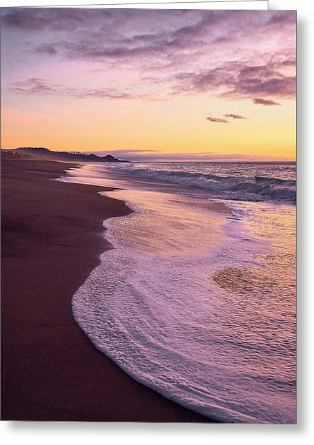 Evening On Gleneden Beach Greeting Card
