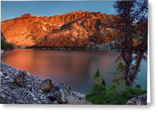 Everson Lake Greeting Card by Leland D Howard