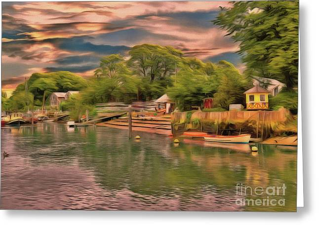 Greeting Card featuring the photograph Everything That I Love About The River by Leigh Kemp