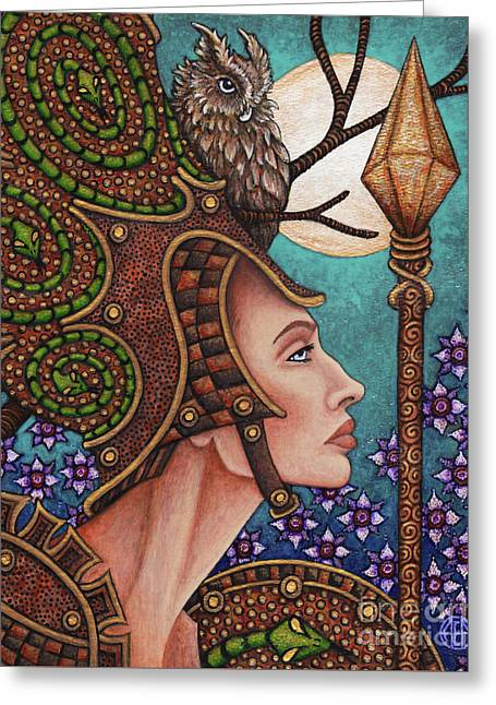 Exalted Beauty Athena Greeting Card