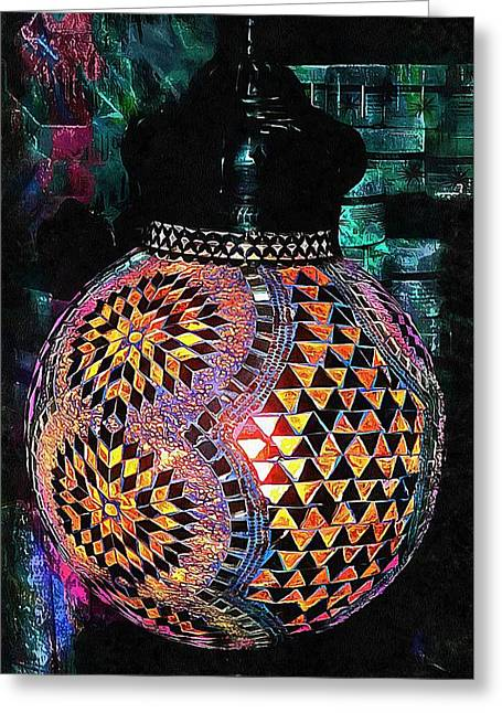 Greeting Card featuring the photograph Exotic Oriental Mosaic by Dorothy Berry-Lound
