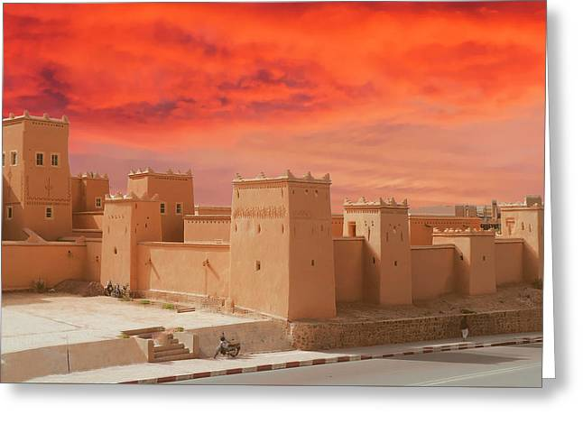 Exterior Buildings Of Kasbah Taourirt Greeting Card