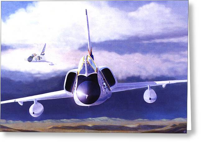F-106a Head-on Greeting Card