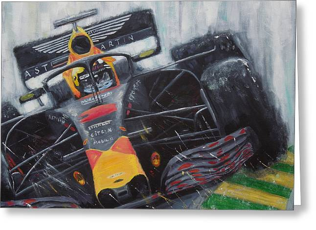 F1 Action Greeting Card
