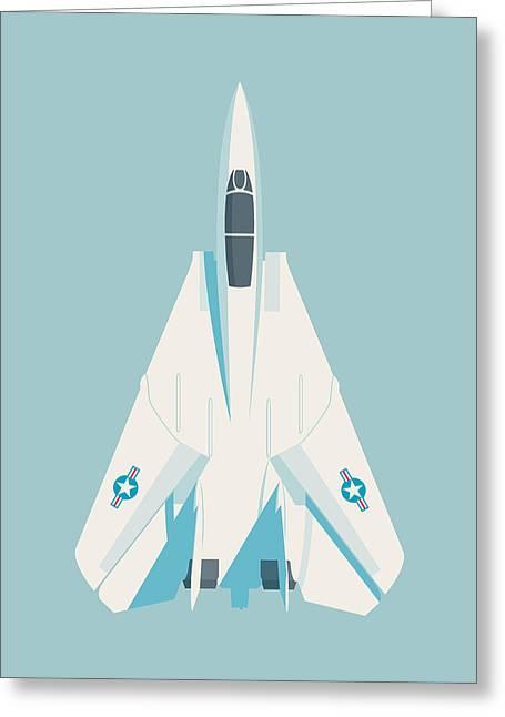 F14 Tomcat Fighter Jet Aircraft - Sky Greeting Card