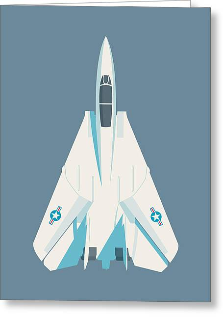 F14 Tomcat Fighter Jet Aircraft - Slate Greeting Card