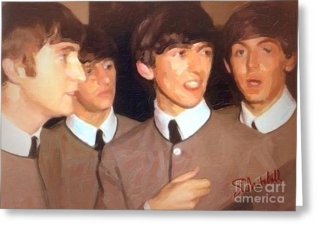 Fab Beatles Greeting Card