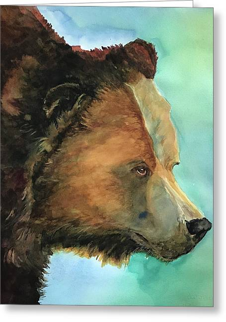 Face To Face Bear Greeting Card