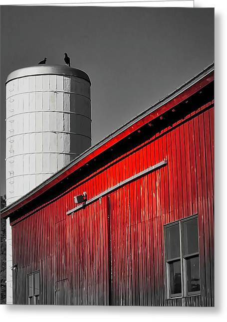 Fading Barn Greeting Card