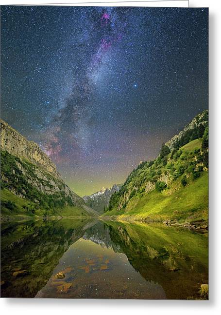 Faelensee Nights Greeting Card
