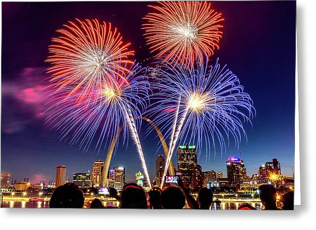 Fair St. Louis Fireworks 6 Greeting Card