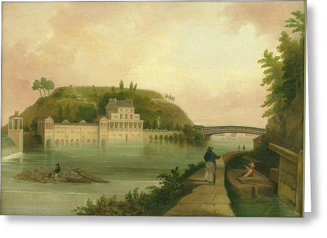 Fairmount Waterworks About 1838 Greeting Card