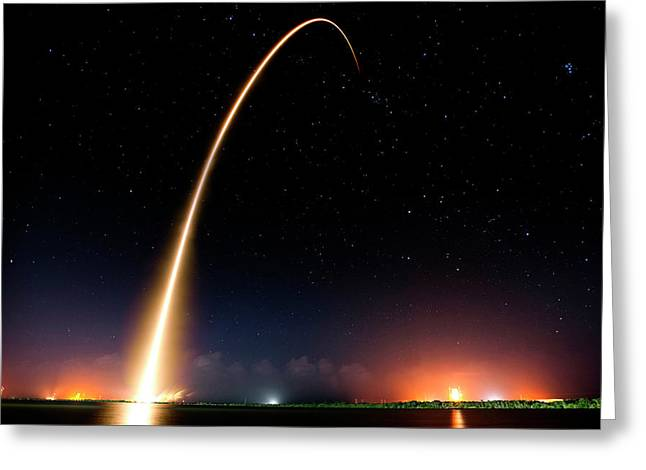 Falcon 9 Rocket Launch Outer Space Image Greeting Card