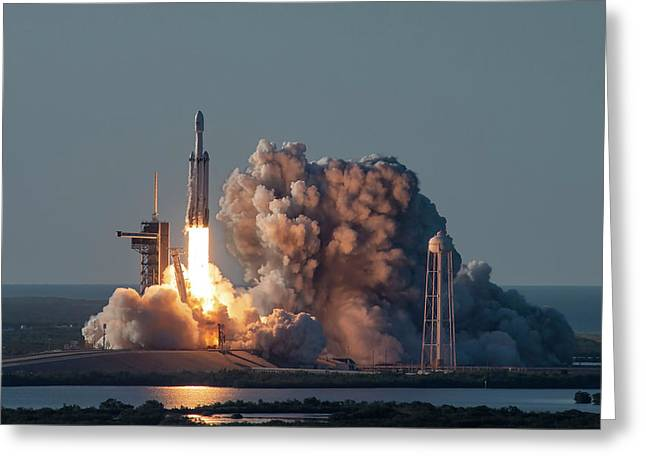 Falcon Heavy Arabsat Launch Greeting Card