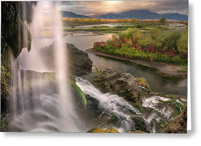 Greeting Card featuring the photograph Fall Creek Falls Sunrise by Leland D Howard