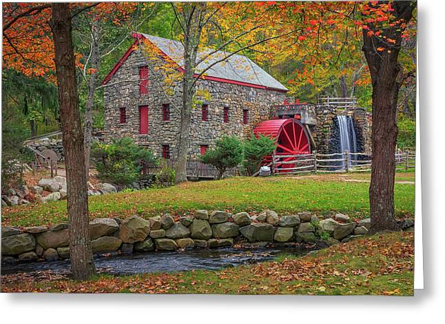 Fall Foliage At The Grist Mill Greeting Card