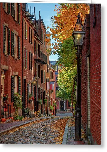 Fall In Beacon Hill Greeting Card