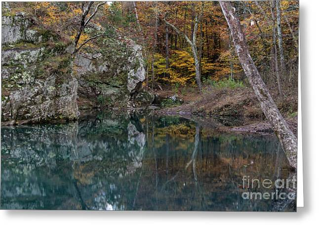 Greeting Card featuring the photograph Fall In The Ozarks by Joe Sparks