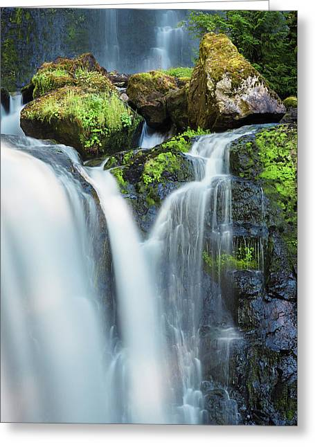 Greeting Card featuring the photograph Falls Creek Falls by Nicole Young
