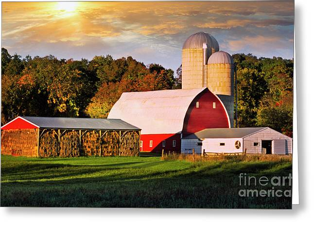 Greeting Card featuring the photograph Family Farm by Scott Kemper