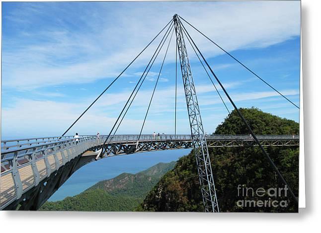 Famous Hanging Bridge Of Langkawi Greeting Card