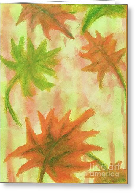 Fanciful Fall Leaves Greeting Card