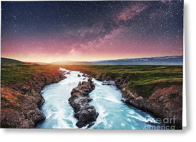 Fantastic Views Of The Landscape Greeting Card