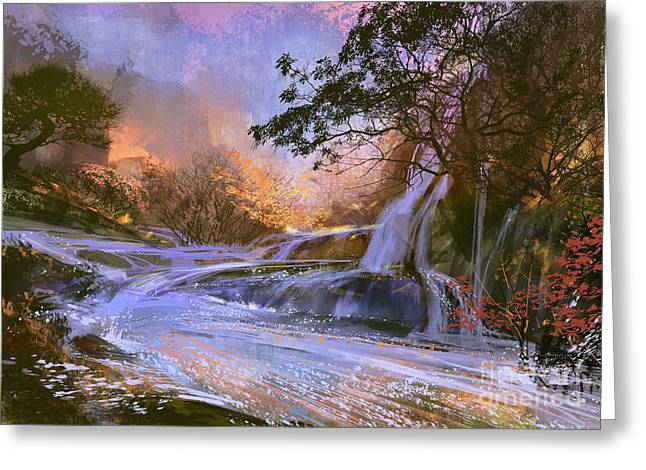 Fantasy Landscape With Beautiful Greeting Card