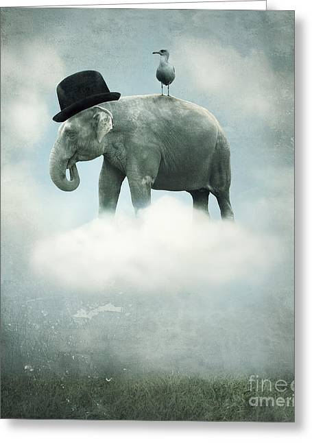 Fantasy Surrealistic Background With An Greeting Card