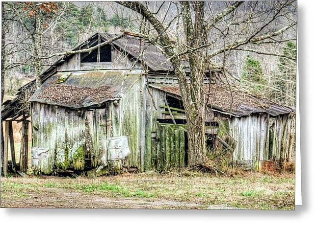 Farm Outbuilding In Less Than Perfect Condition Greeting Card