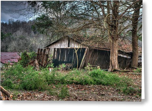 Farm Shed On Its Way Down Greeting Card