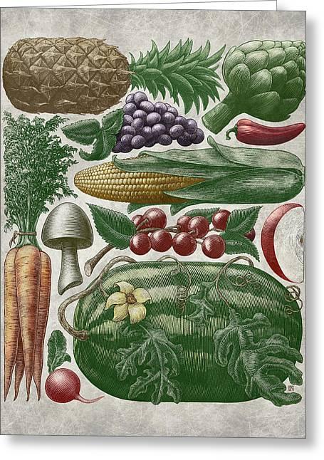 Farmer's Market - Color Greeting Card