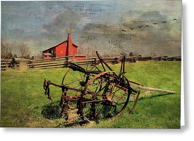 Farming In The 1880s Greeting Card