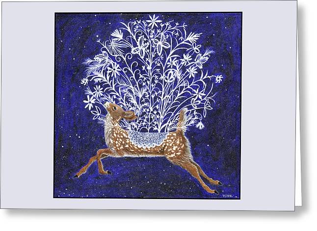 Fawn Bouquet Greeting Card