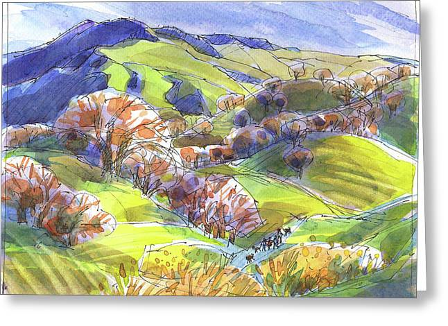 February Landscape With Mount Diablo Greeting Card