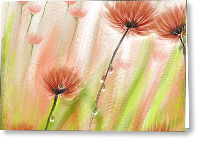 Feng Shui Your Life Dew Drops In The Wind Greeting Card by Remy Francis