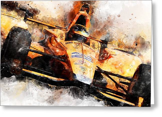 Fernando Alonso, Indy 500 - 04 Greeting Card