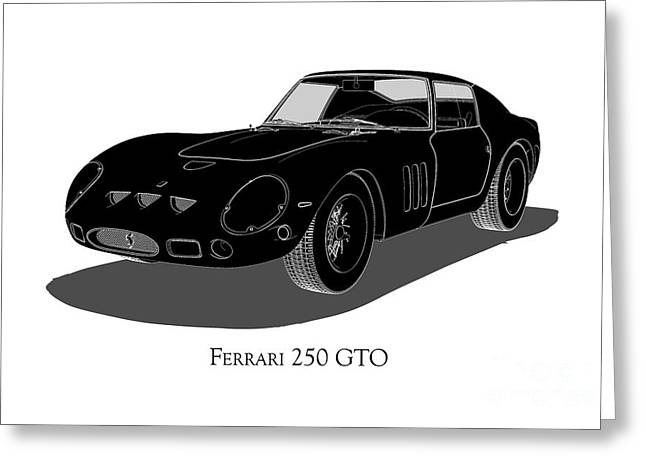 Ferrari 250 Gto - Front View Greeting Card