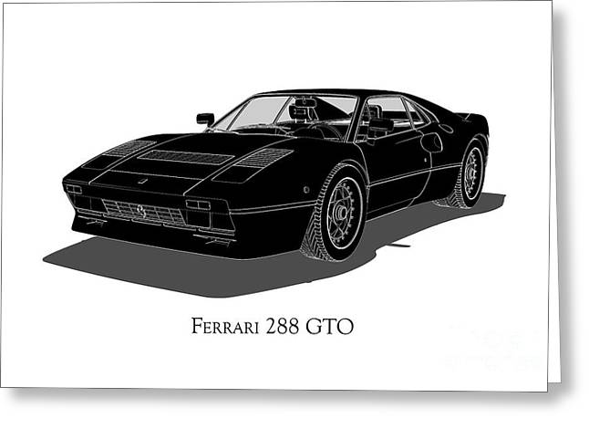 Ferrari 288 Gto - Front View Greeting Card