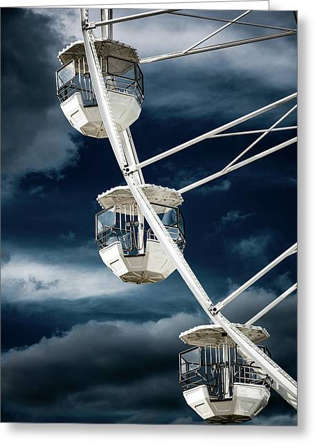 Ferris  Big Wheel, Bournemouth. Greeting Card